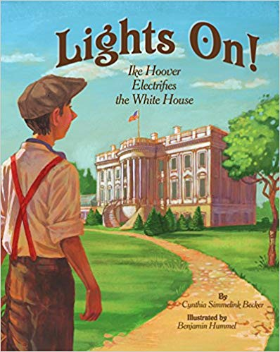 """Lights On!"" children's book, found under ""Bookshelf"""