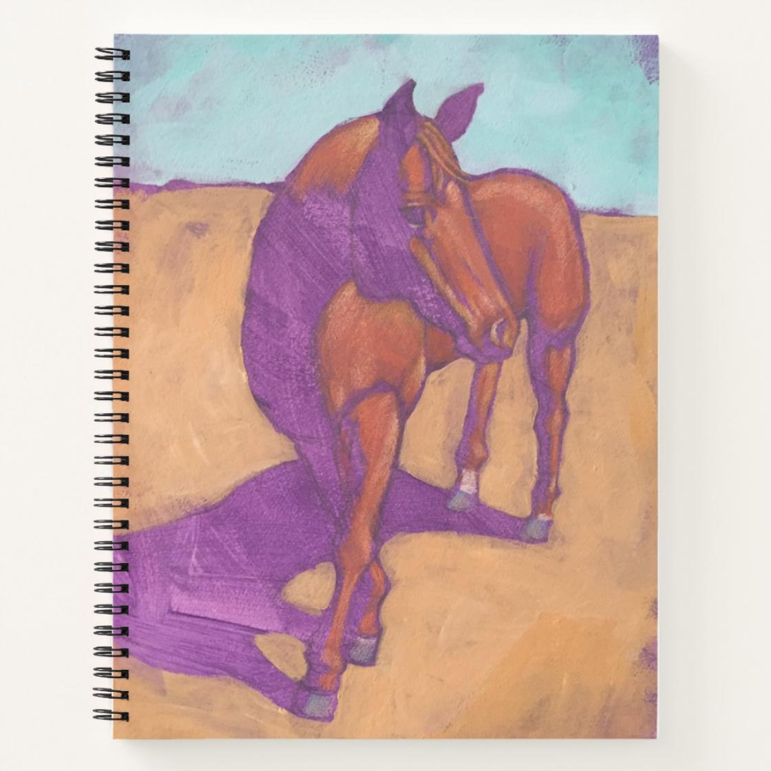 purple horse journal image